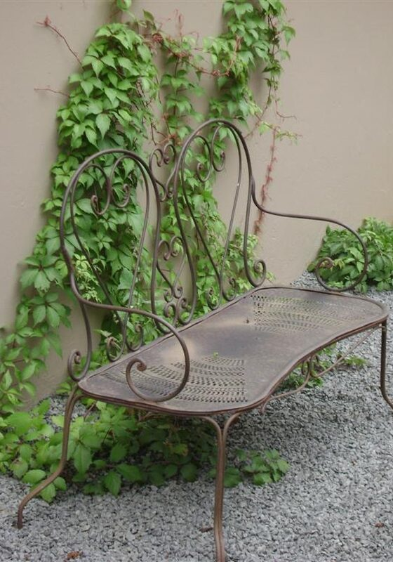 Bespoke bench as part of the landscape design with Virginia creeper in Pietermaritzburg, KZN